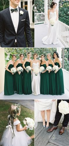 I never considered green for a wedding color, but this is beautiful! / Emerald Green Wedding at William Aiken House