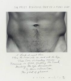 Duane Michals • The Most Beautiful Part of a Man's Body, 1986