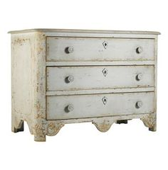 Patric Swedish Gustavian Style Painted Chest Dresser