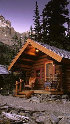 Yoho National Park, Log Cabin Homes, Log Cabins, Mountain Cabins, Rustic Cabins, Mountain View, Mountain Cottage, Tiny Cabins, Mountain Homes