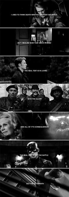 Captain America: I envy the ignorance of a young man's folly More