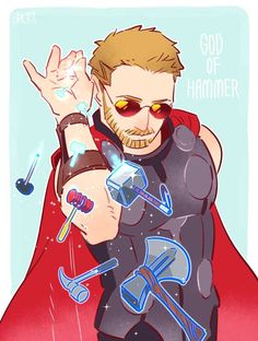 """Are you Thor, the god of hammers?"" by 澈(che) (cyancrown.tumblr.com) #澈 #thor #hammerbae"