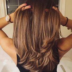 hazel caramel hair color on long hair - Hair - Cheveux Tressés Hair Color Highlights, Ombre Hair Color, Brown Hair Colors, Caramel Highlights, Hazel Hair Color, Balayage Highlights, Hair Colour, Hazel Brown Hair, Honey Balayage
