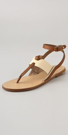 These Rag & Bone sandals feature a contrast pebbled-leather upper. Button closure and adjustable wraparound ankle strap. Leather sole.