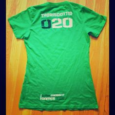 734dd913e7a 2011 CrossFit Games athlete shirt Official Reebok CF Shirt for Annie  Thorisdottir in the 2011 Reebok