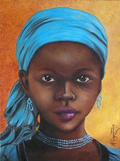 Menina negra africana