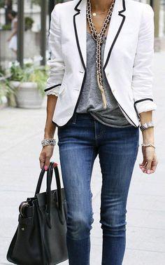 Cómo llevar un blazer con mucho estilo, Â¡ficha estos looks!                                                                                                                                                                                 Más
