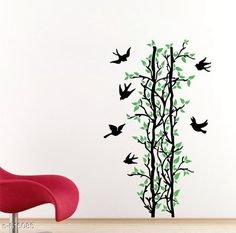 Decorative Stickers Classy PVC Wall Sticker  *Material* PVC  *Size* 70 cm x 117 cm  *Description* It Has 1 Piece Green Leaves Tree & Birds Wall Sticker  *Sizes Available* Free Size *   Catalog Rating: ★3.9 (122)  Catalog Name: Free Gift Decorative PVC Wall Stickers Vol 5 CatalogID_69063 C127-SC1267 Code: 781-616085-