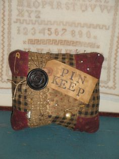 Vintage Quilt Pin Keep - Pin Cushion - Cupboard Tuck