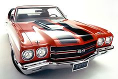 1970 Chevy Chevelle LS6. Monster Big Block 454 Rat Motor with approx 460 HP! The last of the Muscle Cars until the EPA, low octane gasoline, and insurance companies put an end to them.