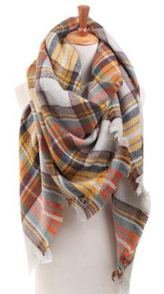 cozy plaid scarf Haut Dentelle, Winter Mode, Sac À Main, Chapeau, Mode 3b347d1f1c2