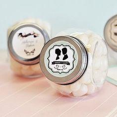 Vintage Wedding Sweet Jars - wedding favours