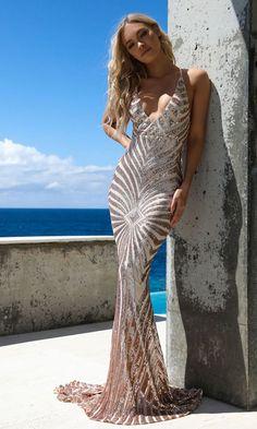 ba2947547ce9 Champagne Dreams Gold Sequin Geometric Pattern Sleeveless Spaghetti Strap V  Neck Mermaid Maxi Dress