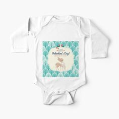 Show the world who`s Mommy`s, or Daddy`s cutest Valentine with this adorable longsleeve body, onsie with deer and bunny pattern. With a cute baby like your`s, everyday is a Valentine`s day. Flaunt it.  #cute #babyapparel #maternity #newborn #nursery #babydeer #bunny #unisex #valentine #longsleeve #body #giftforbabies #parenthood #newparents #babystuff #giftforexpectingmoms #lovelybaby #cutebabystuff #giftfornursingparents #shoponline #shoppiccogrande #piccograndebaby Newborn Nursery, Wish Come True, Baby Deer, Baby Onesie, New Parents, Matching Outfits, Simple Dresses, Happy Valentines Day, Cuddling