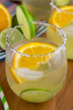 The Best Ever recipe for Margarita Sangria - make a white sangria with the flavors of your favorite margarita recipe!