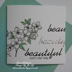 So Thankful For stamp set and Kind Thoughts dies from Stamps By Me  #stampsbyme #dtsample #sothankfulfor #kindthoughtsdie #beautiful #die #flowers #cardmaking #cards #craft #creative #ilovetocraft #creativity #karenzkardz