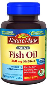 Nature Made Fish Oil Minis....prob better didn't send....in case I do not know what I am doing :(   have read how this helps...