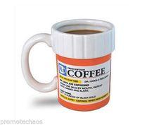 PRESCRIPTION PILLS BOTTLE COFFEE MUG Amber White Ceramic Gag Gift Cup Funny Tea. FREE US Shipping! :)