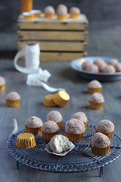 TRUFAS DE TIRAMISÚ Biscotti, Kitchen Recipes, Blondies, Mini Cupcakes, Sweet Treats, Recipies, Favorite Recipes, Sweets, Cooking