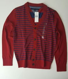 NWT Tommy Hilfiger Men's Long Sleeve Striped Cardigan S, M, L #TommyHilfiger…