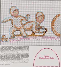 """Милые сердцу штучки: Новогодняя вышивка: Миниатюры """"Snow babies at play"""""""