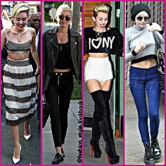 MILEY CYRUS CROP TOP ADDICTION#mileycyrus #model #croptop #skinnyjeans #boots #sunglasses #style #fashion #instastyle #victoriassecret #selenagomez #instafashion #beautiful #ootd #hot #vanessahudgens #teenager #inspiration #fashionista #fashionicon  #styleicon #perfection #celebrity #streetstyle #hipster #streetfashion #liamhemsworth #love #weheartit... - Celebrity Fashion
