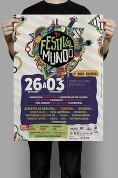 Identidade Visual 9º Festival Mundo on Behance