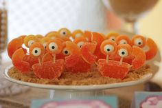 Cute snacks at a Little Mermaid Birthday Party!  See more party ideas at CatchMyParty.com!