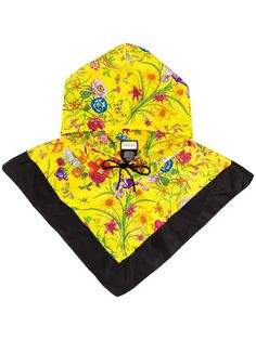 11088091e Gucci floral print anorak hat - Orange in 2019 | Products | Gucci ...