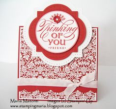 Marias Stamping Station: Stampin Up Just Thinking Card and Junes MDS Calendar Wallpaper