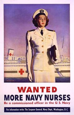 I'd have been so proud of my sister the nurse. And, look at the exquisite tailoring on that uniform!