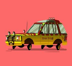 Ido Yehimovitz is an illustrator from Tel Aviv, Israel and he created an awesome collection of vehicles from movies and TV shows…
