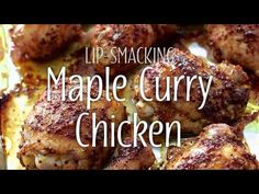 How could something so easy be so delicious? That's the question I ask myself every time I make this simple yet sensational baked chicken recipe. Baked Curry Chicken, Maple Chicken, Oven Chicken, Baked Chicken Recipes, Supper Recipes, Appetizer Recipes, Cookbook Recipes, Cooking Recipes, Tasty Thai