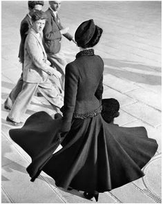 Dior's new look, Paris, 1947 by Richard Avedon