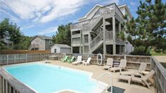 Sand Palace OBX, Duck, NC - The Sand Palace OBX is just the place to go for your royal beach retreat! Lounge by the pool, de-stress in the hot tub, energize your mind in the library/game room or work up a sweat at the basketball hoop and volleyball court. Want to dial...