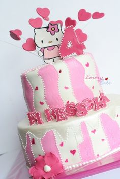 hello kitty painted cake