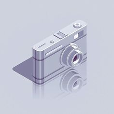 "675 Likes, 17 Comments - Nikolay Afonin (@just_rookie) on Instagram: ""118/365  Camera ____________________________________  #365project, #dribbble, #iconaday, #gfxmob,…"""