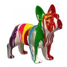 Balloon Dog Sculpture, Lion Sculpture, Bulldog, Dog Art, Motifs, House Colors, Color Palettes, Statues, Balloons