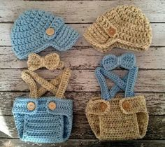 Stop it! These #crochet #outfits for #newborns are to die for