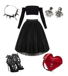 """Untitled #93"" by kamishiro-rize on Polyvore featuring Giuseppe Zanotti, Dr. Martens and Badgley Mischka"