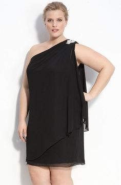 One Shoulder Dress for Plus Size Women…    Price: $93.90 by JS Boutique @ NordstromBeing full figured you don't always find that dress for plus size women that gives you the glow you…