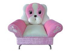 PORTA GIOIE POLTRONA CANE. Porta gioielli poltrona cane in tessuto vellutato di colore rosa e bianco con all'interno uno specchio, ferma anelli e piccolo box per bracciali e collane