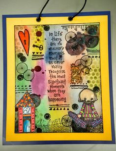 Artwork created by Angela Bullock using rubber stamps designed by Daniel Torrente for Stampotique Originals