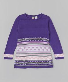 Look what I found on #zulily! Purple Fair Isle Dress - Infant, Toddler & Girls #zulilyfinds