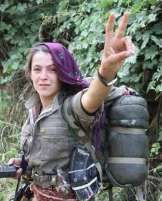 Sherene - 21 years old, first year university - Member of the Kurdish woman's protection unit fighting ISIS in Kobani