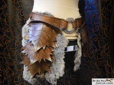Leather leaf tasset upper leg armor spring or by lantredurenard