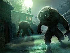 werewolves   Howlpack Resurgence   Bask in the Gothic Glory of This Haunting Magic: The Gathering Art