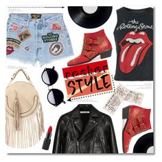 """Rocker x Style"" by chocolate-addicted-angel ❤ liked on Polyvore featuring MadeWorn, T By Alexander Wang, Topshop, Chloé and Barry M"