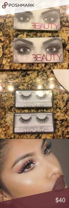 Final Price Drop! 2 Sets Huda Beauty Farah Lashes New in packaging. Price is firm. Sephora Makeup False Eyelashes