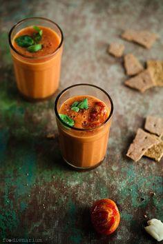 Really Simple Cold Tomato Soup Recipe | Foodienarium